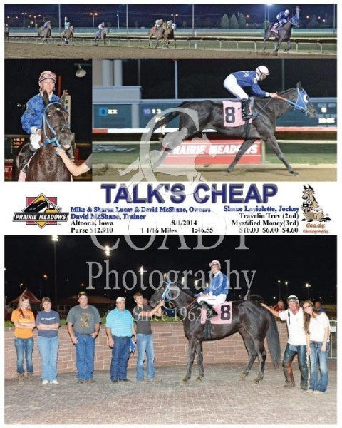 Talk's Cheap - 8/1/2014 - Race 9 - PRM