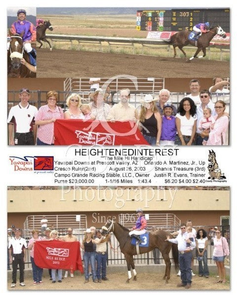 Heightenedinterest -   The Mile Hi Handicap  - 8 2