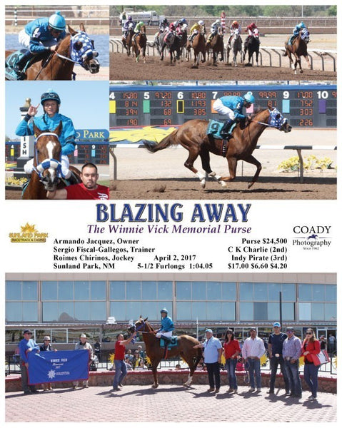 BLAZING AWAY - 040217 - Race 04 - SUN