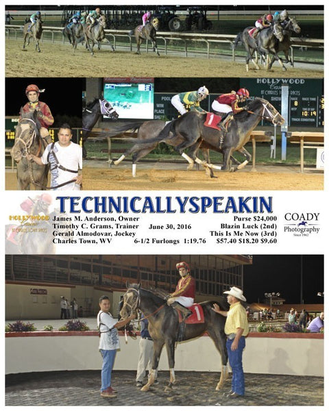 TECHNICALLYSPEAKIN - 063016 - Race 08 - CT