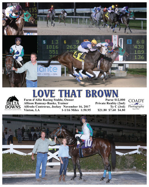 LOVE THAT BROWN - 111617 - Race 03 - DED