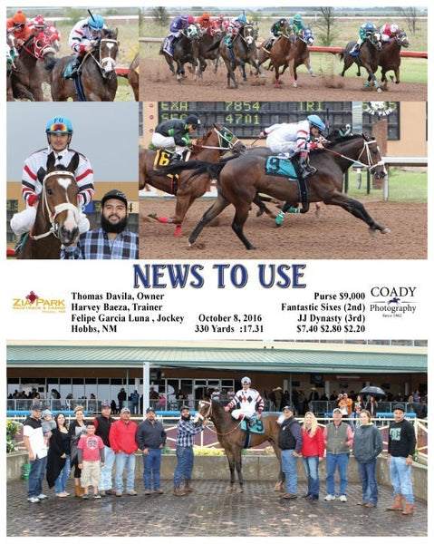 NEWS TO USE  - 100816 - Race 07 - ZIA