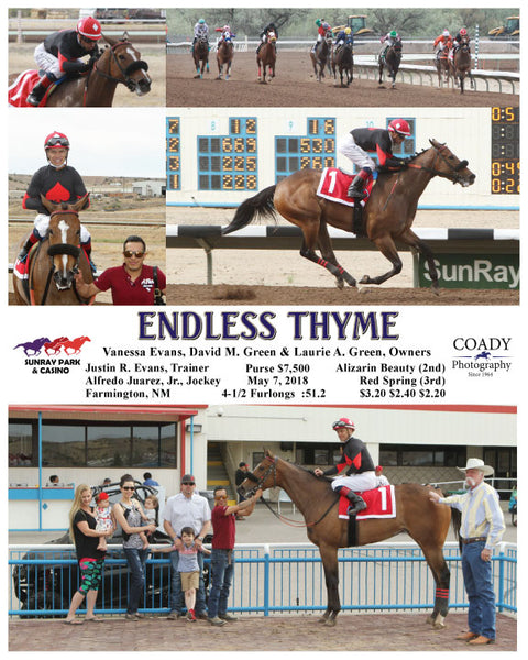 ENDLESS THYME - 050718 - Race 05 - SRP