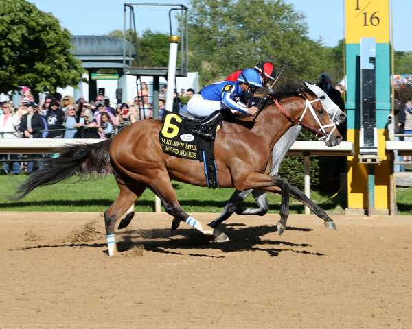 BY MY STANDARDS - The Oaklawn Mile - 3rd Running - 04-10-21 - R09 - OP - Finish 01