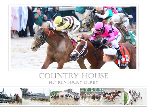 145th Kentucky Derby - Country House - Limited Edition 18x24 Print