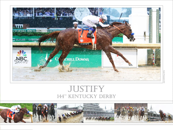 144th Kentucky Derby - Justify - Limited Edition 18x24 Print