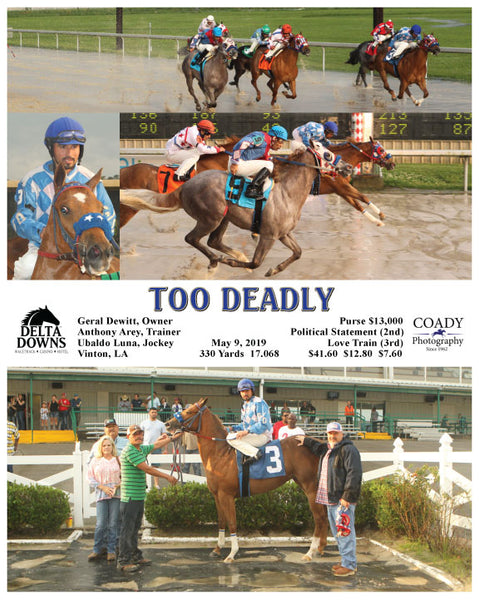 TOO DEADLY - 050919 - Race 01 - DED