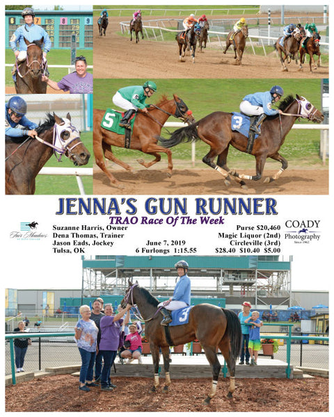 JENNA'S GUN RUNNER - TRAO Race Of The Week - 06-07-19 - R02 - FMT