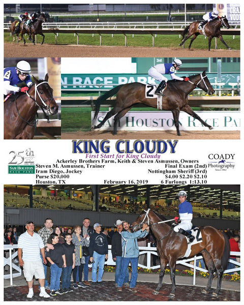 KING CLOUDY - First Start for King Cloudy - 02-16-19 - R02 - HOU