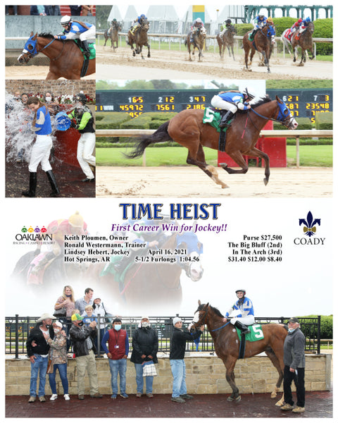 TIME HEIST - First Career Win for Jockey!! - 04-16-21 - R03 - OP