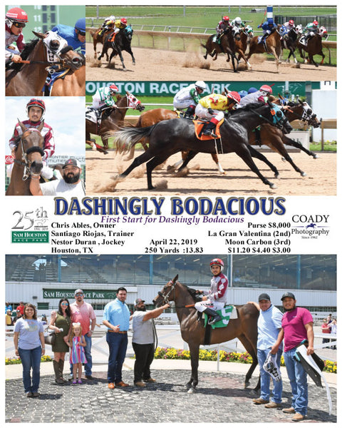 DASHINGLY BODACIOUS - First Start for Dashingly Bodacious - 04-22-19 - R04 - HOU