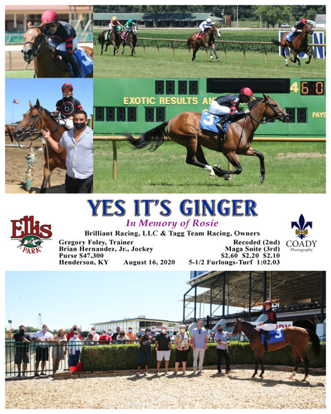 YES IT'S GINGER - 08-16-20 - R04 - ELP