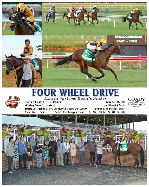 FOUR WHEEL DRIVE - Exacta Systems Rosie's Stakes  - 08-31-19 - R06 - CNL