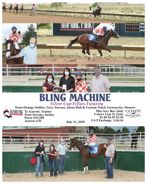 BLING MACHINE - Silver Cup Fillies Futurity - 07-21-20 - R07 - ARP