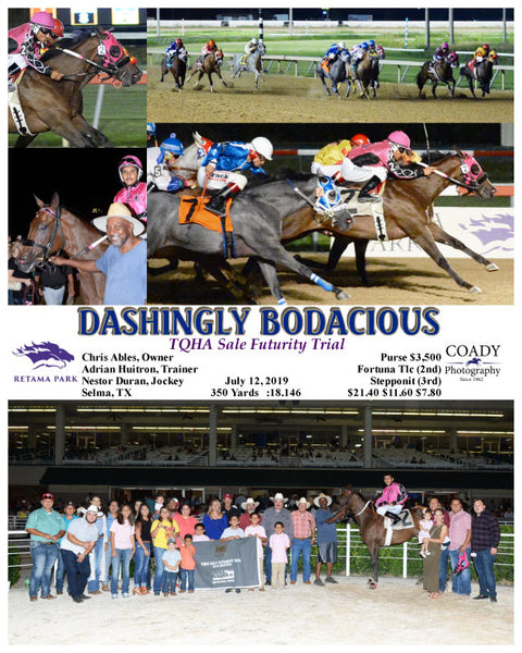 DASHINGLY BODACIOUS - TQHA Sale Futurity Trial - 07-12-19 - R07 - RET
