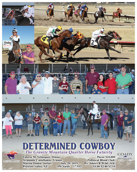 DETERMINED COWBOY - The Granite Mountain Quarter Horse Futurity - 07-20-19 - R07 - AZD