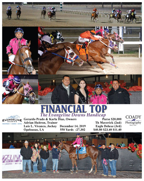 FINANCIAL TOP - The Evangeline Downs Handicap - 12-14-19 - R07 - EVD