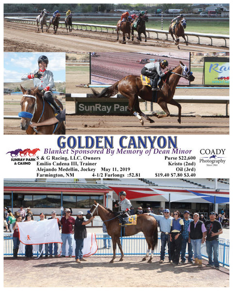 GOLDEN CANYON - Blanket Sponsored By Memory of Dean Minor - 05-11-19 - R07 - SRP