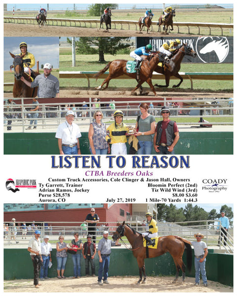 LISTEN TO REASON - CTBA Breeders Oaks - 07-27-19 - R07 - ARP