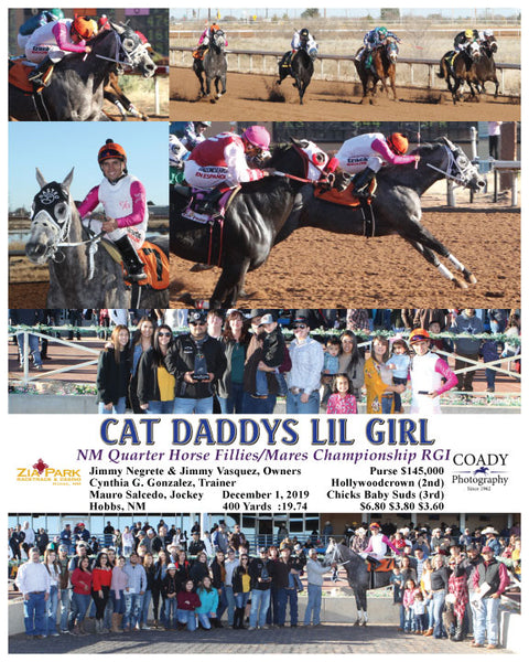 CAT DADDYS LIL GIRL - NM Quater Horse Fillies/Mares Championship RGI - 12-01-19 - R08 - ZIA