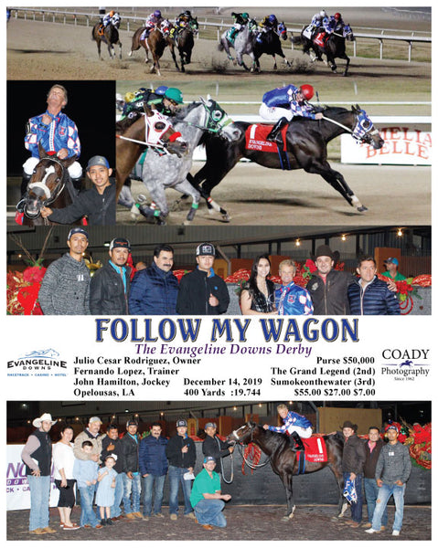 FOLLOW MY WAGON - The Evangeline Downs Derby - 12-14-19 - R08 - EVD