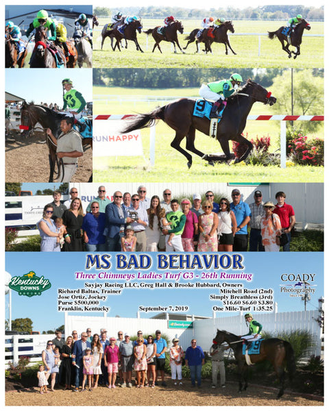 MS BAD BEHAVIOR - Three Chimneys Ladies Turf G3 - 26th Running - 09-07-19 - R08 - KD