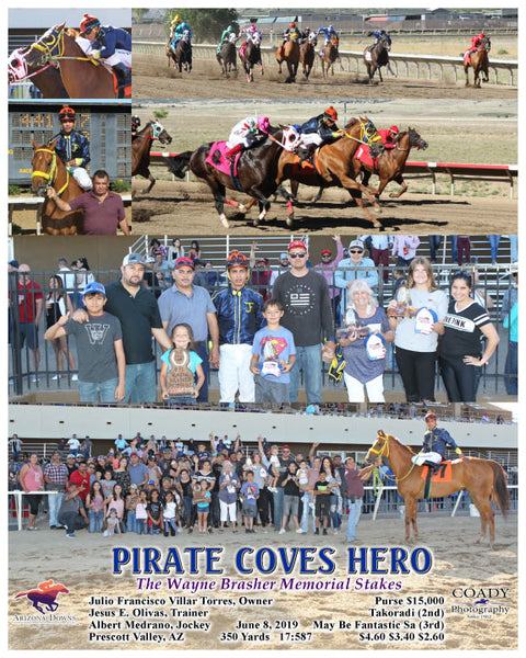 PIRATE COVES HERO - The Wayne Brasher Memorial Stakes - 06-08-19 - R08 - AZD