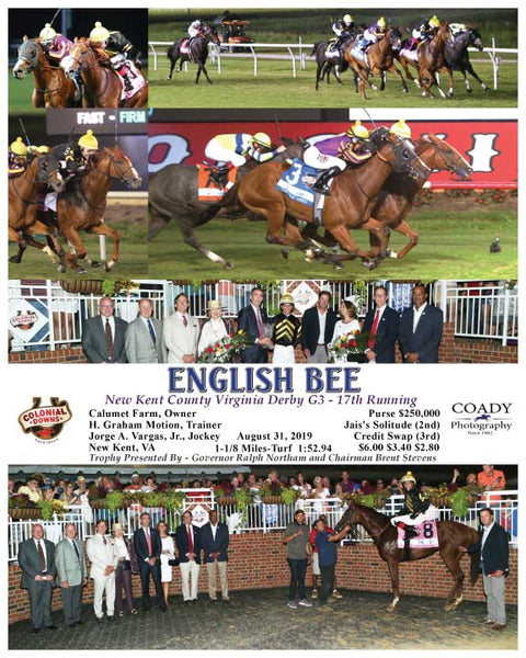 ENGLISH BEE - New Kent County Virginia Derby G3 - 17th Running - 08-31-19 - R09 - CNL