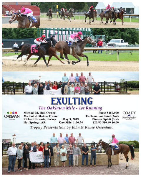 EXULTING - The Oaklawn Mile - 1st Running - 05-03-19 - R09 - OP