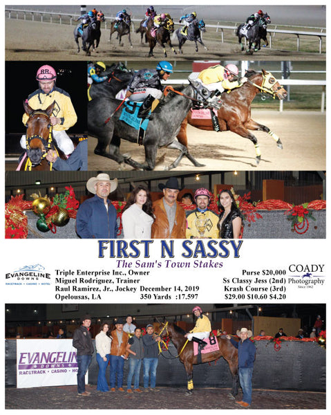 FIRST N SASSY - The Sam's Town Stakes - 12-14-19 - R09 - EVD