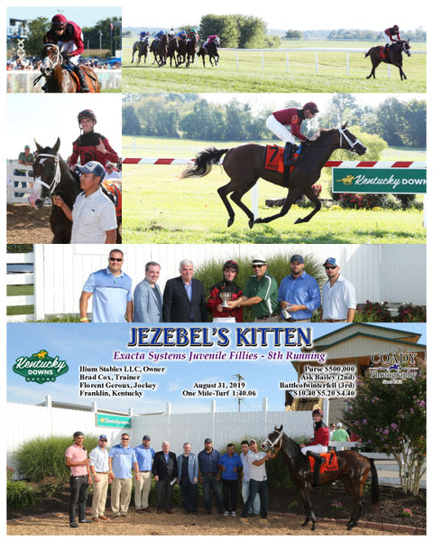 JEZEBEL'S KITTEN - Exacta Systems Juvenile Fillies - 8th Running - 08-31-19 - R09 - KD