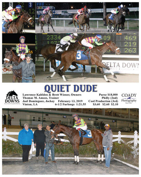 QUIET DUDE - 021319 - Race 09 - DED