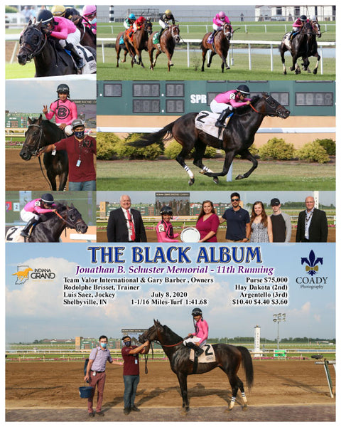 THE BLACK ALBUM - Jonathan B. Schuster Memorial - 11th Running - 07-08-20 - R09 - IND