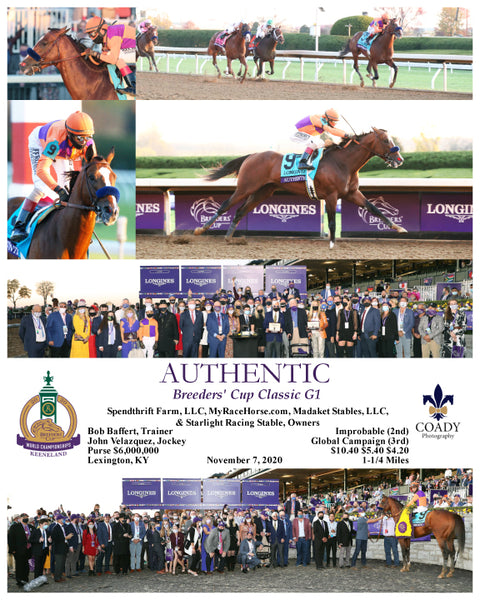 AUTHENTIC - Breeders' Cup Classic G1 - 11-07-20 - R12 - KEE
