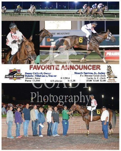 Favorite Announcer - 8/8/2014 - Race 6 - PRM