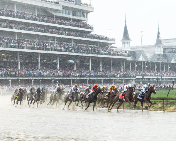 JUSTIFY - 050518 - Race 12 - CD The Kentucky Derby G1 - First Turn 01