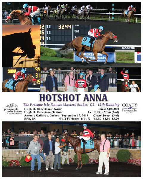 HOTSHOT ANNA - 091718 - Race 06 - PID The Presque Isle Downs Masters Stakes  G2 - 12th Running