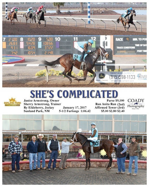 SHE'S COMPLICATED - 011717 - Race 09 - SUN