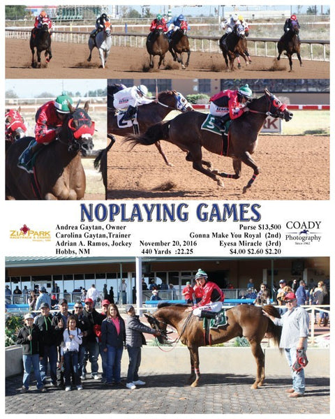 NOPLAYING GAMES  - 112016 - Race 04 - ZIA