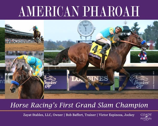 AMERICAN PHAROAH - Grand Slam - 18x24 Print
