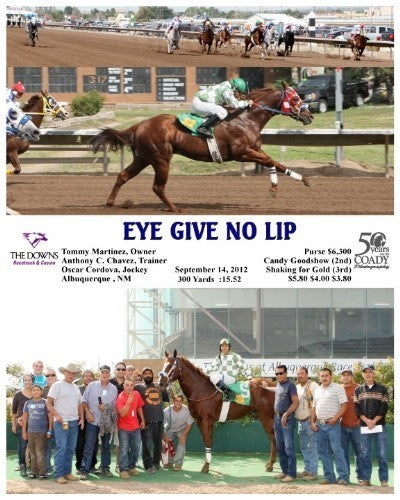 Eye Give No Lip - 091412 - Race 03