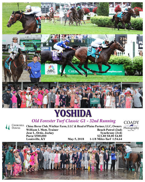 YOSHIDA - Old Forester Turf Classic G1 - 32nd Running - 05-05-18 - R11 - CD - WC