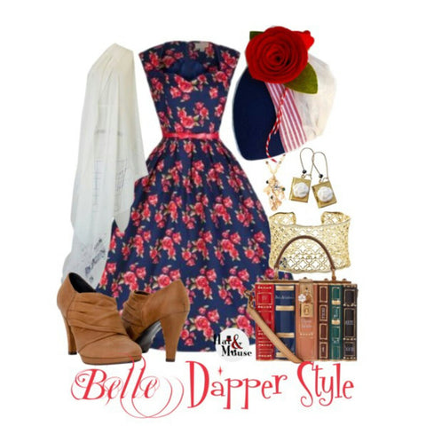 Dapper day disneybound belle's blue dress inspiration