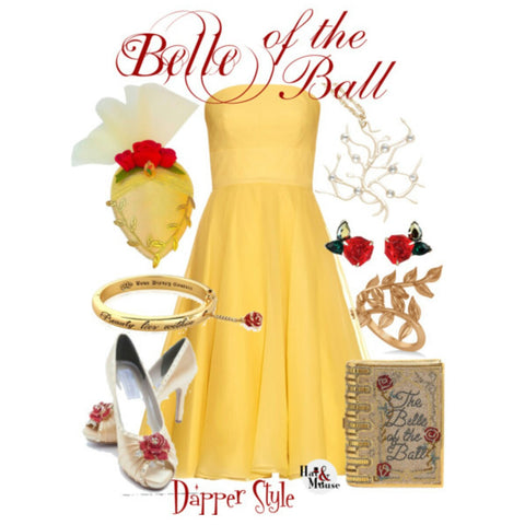 dapper day disneybound belle yellow dress inspiration