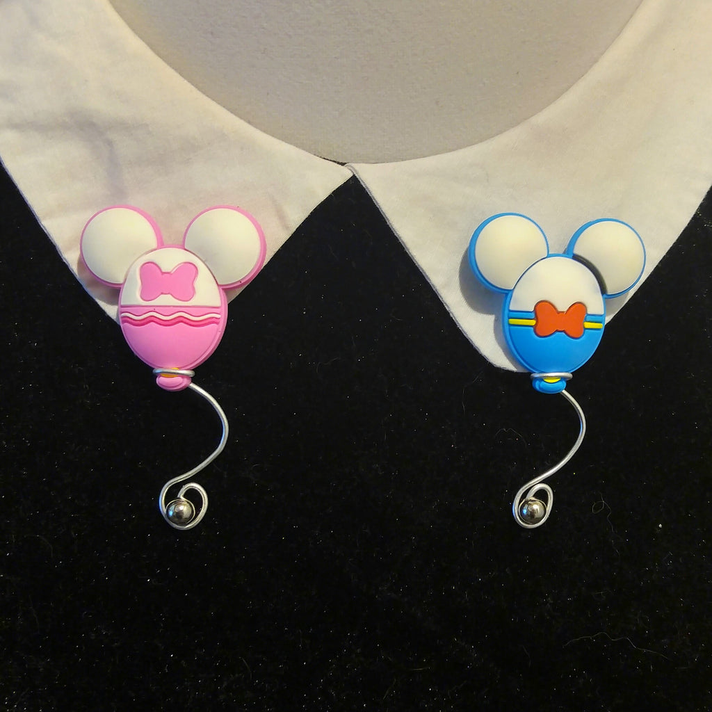 Mickey Mouse Ear balloon brooch. Disney jewelry pin.