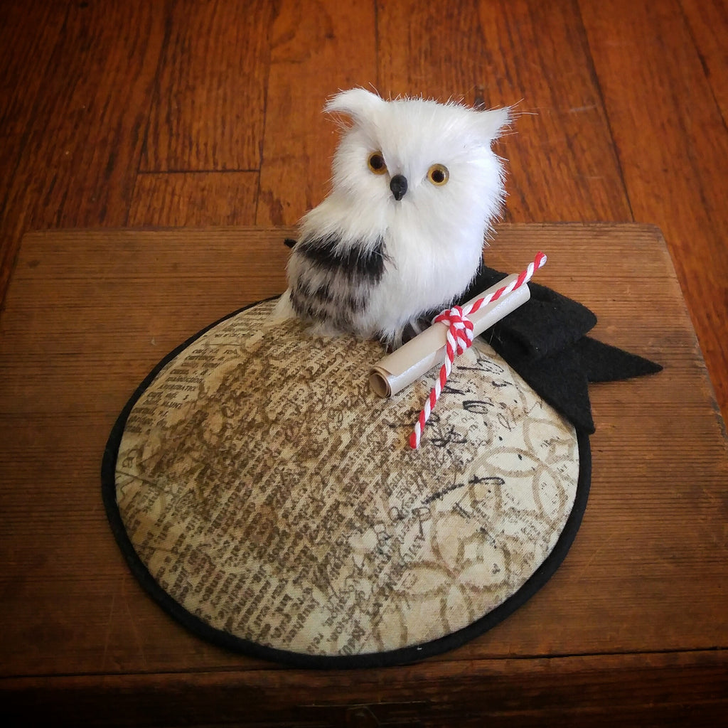 Owl Post Fascinator Hat