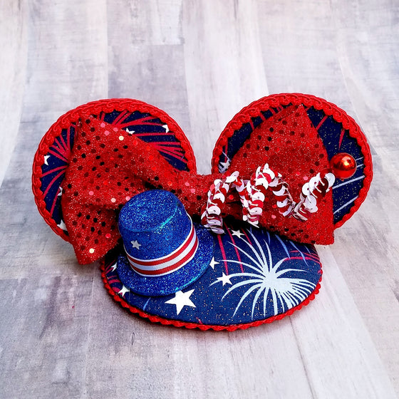 Sizzling Sparkler 4th of July FascinEar Fascinator