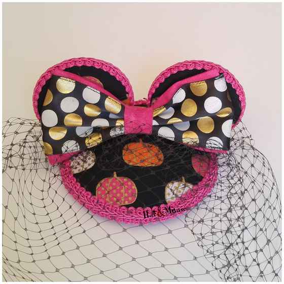minnie, mickey, disney, pinup, vintage disneybound halloween mouse ears fascinator hat and mouse
