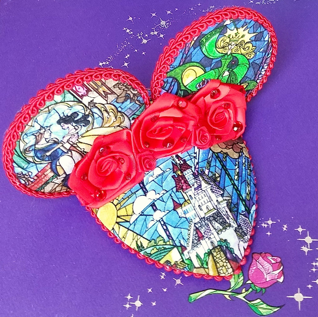 Roses and Stained Glass FascinEar Fascinator