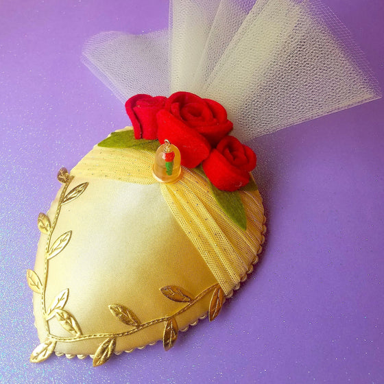 Belle yellow dress fascinator hat for disneybound or disney dapper day.